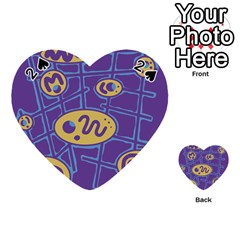 Purple and yellow abstraction Playing Cards 54 (Heart)