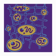 Purple and yellow abstraction Medium Glasses Cloth