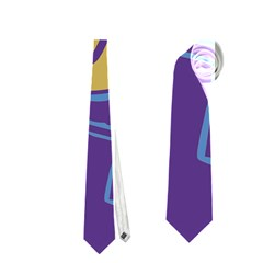 Purple and yellow abstraction Neckties (One Side)