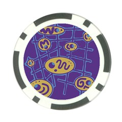 Purple and yellow abstraction Poker Chip Card Guards