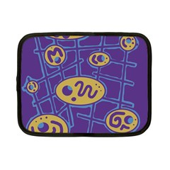 Purple and yellow abstraction Netbook Case (Small)
