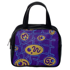 Purple and yellow abstraction Classic Handbags (One Side)