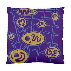 Purple and yellow abstraction Standard Cushion Case (Two Sides)