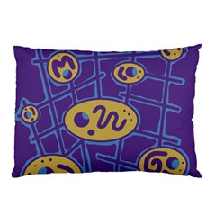 Purple and yellow abstraction Pillow Case
