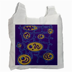 Purple and yellow abstraction Recycle Bag (Two Side)