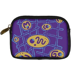 Purple and yellow abstraction Digital Camera Cases