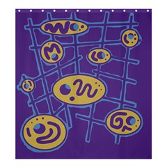 Purple and yellow abstraction Shower Curtain 66  x 72  (Large)