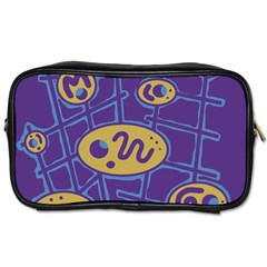 Purple and yellow abstraction Toiletries Bags