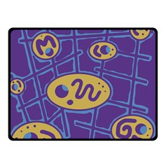 Purple and yellow abstraction Fleece Blanket (Small)