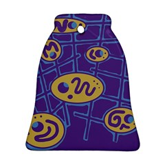 Purple and yellow abstraction Bell Ornament (2 Sides)