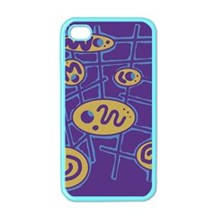 Purple and yellow abstraction Apple iPhone 4 Case (Color)