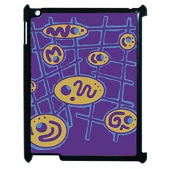 Purple and yellow abstraction Apple iPad 2 Case (Black)