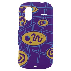Purple and yellow abstraction HTC Amaze 4G Hardshell Case