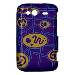 Purple and yellow abstraction HTC Wildfire S A510e Hardshell Case