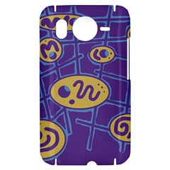 Purple and yellow abstraction HTC Desire HD Hardshell Case