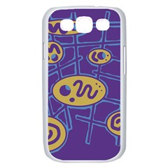 Purple and yellow abstraction Samsung Galaxy S III Case (White)