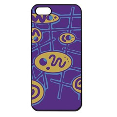 Purple and yellow abstraction Apple iPhone 5 Seamless Case (Black)