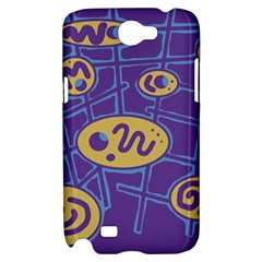 Purple and yellow abstraction Samsung Galaxy Note 2 Hardshell Case