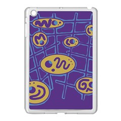 Purple and yellow abstraction Apple iPad Mini Case (White)