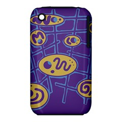 Purple and yellow abstraction Apple iPhone 3G/3GS Hardshell Case (PC+Silicone)