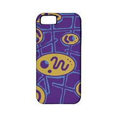 Purple and yellow abstraction Apple iPhone 5 Classic Hardshell Case (PC+Silicone)