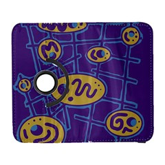 Purple and yellow abstraction Samsung Galaxy S  III Flip 360 Case