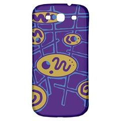 Purple and yellow abstraction Samsung Galaxy S3 S III Classic Hardshell Back Case