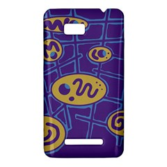 Purple and yellow abstraction HTC One SU T528W Hardshell Case