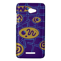 Purple and yellow abstraction HTC Butterfly X920E Hardshell Case