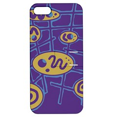 Purple and yellow abstraction Apple iPhone 5 Hardshell Case with Stand