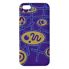 Purple and yellow abstraction Apple iPhone 5 Premium Hardshell Case