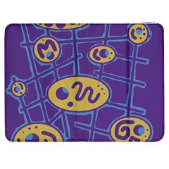 Purple and yellow abstraction Samsung Galaxy Tab 7  P1000 Flip Case