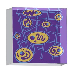 Purple and yellow abstraction 5  x 5  Acrylic Photo Blocks