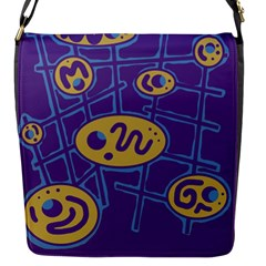 Purple and yellow abstraction Flap Messenger Bag (S)