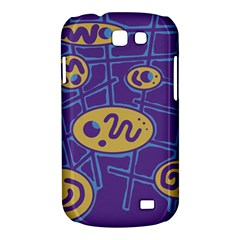 Purple and yellow abstraction Samsung Galaxy Express I8730 Hardshell Case