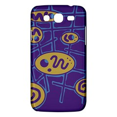 Purple and yellow abstraction Samsung Galaxy Mega 5.8 I9152 Hardshell Case