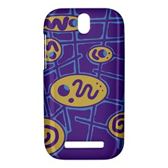 Purple and yellow abstraction HTC One SV Hardshell Case
