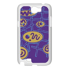 Purple and yellow abstraction Samsung Galaxy Note 2 Case (White)