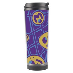 Purple and yellow abstraction Travel Tumbler