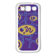 Purple and yellow abstraction Samsung Galaxy S3 Back Case (White)