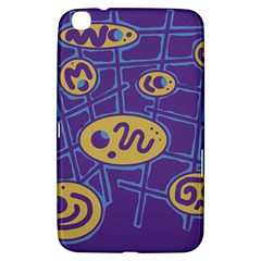 Purple and yellow abstraction Samsung Galaxy Tab 3 (8 ) T3100 Hardshell Case