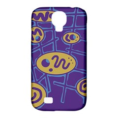 Purple and yellow abstraction Samsung Galaxy S4 Classic Hardshell Case (PC+Silicone)