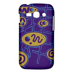 Purple and yellow abstraction Samsung Galaxy Ace 3 S7272 Hardshell Case