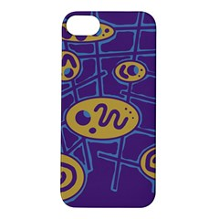 Purple and yellow abstraction Apple iPhone 5S/ SE Hardshell Case