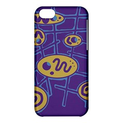 Purple and yellow abstraction Apple iPhone 5C Hardshell Case