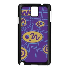 Purple and yellow abstraction Samsung Galaxy Note 3 N9005 Case (Black)