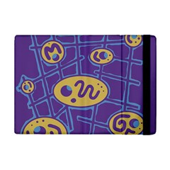 Purple and yellow abstraction iPad Mini 2 Flip Cases