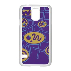 Purple and yellow abstraction Samsung Galaxy S5 Case (White)