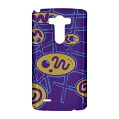 Purple and yellow abstraction LG G3 Hardshell Case