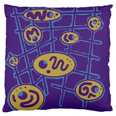 Purple and yellow abstraction Standard Flano Cushion Case (One Side)